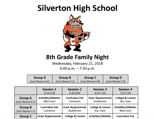 Upcoming 8th Grade Family Night