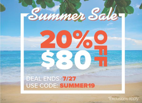 Summer Sale Promo Code SUMMER19